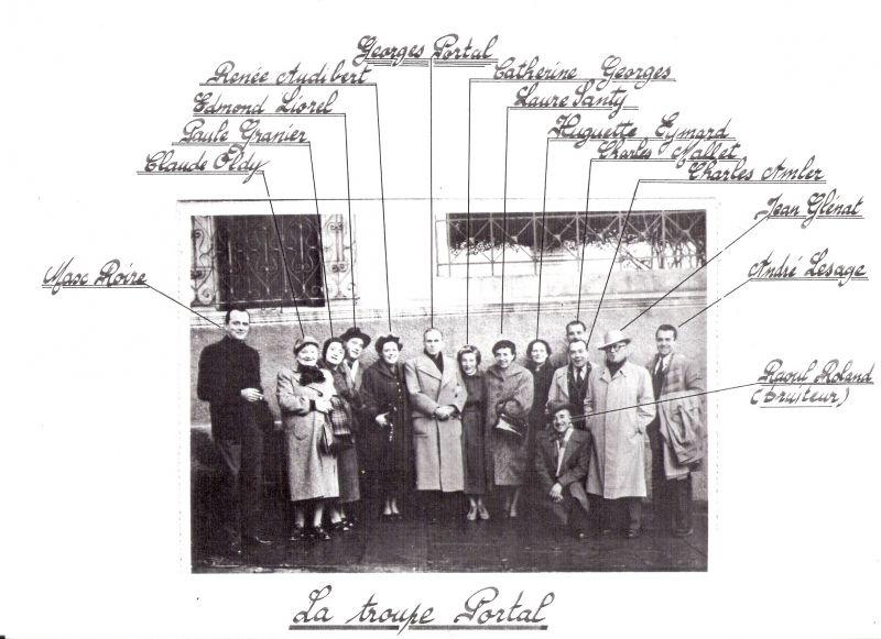Radio Alger - La Troupe Georges Portal - 1950