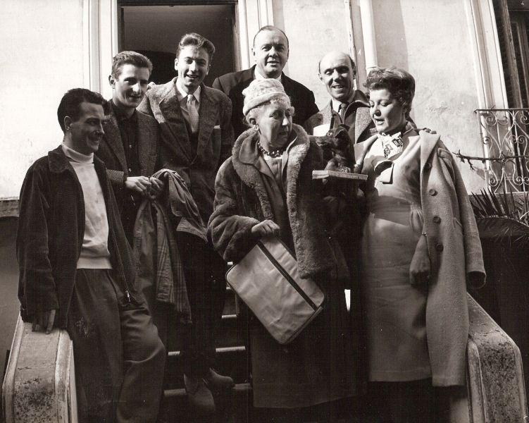 Comédiens de Radio Alger autour de Pierre Héral - 1958