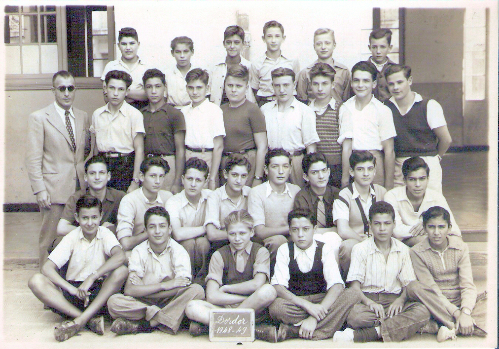 La classe de 4e de l'Ecole Dordor en 1948-49