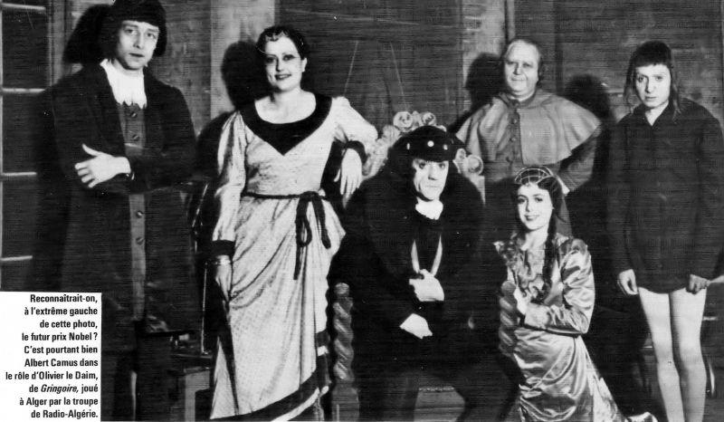 Albert Camus avec les comédiens de Radio Alger
