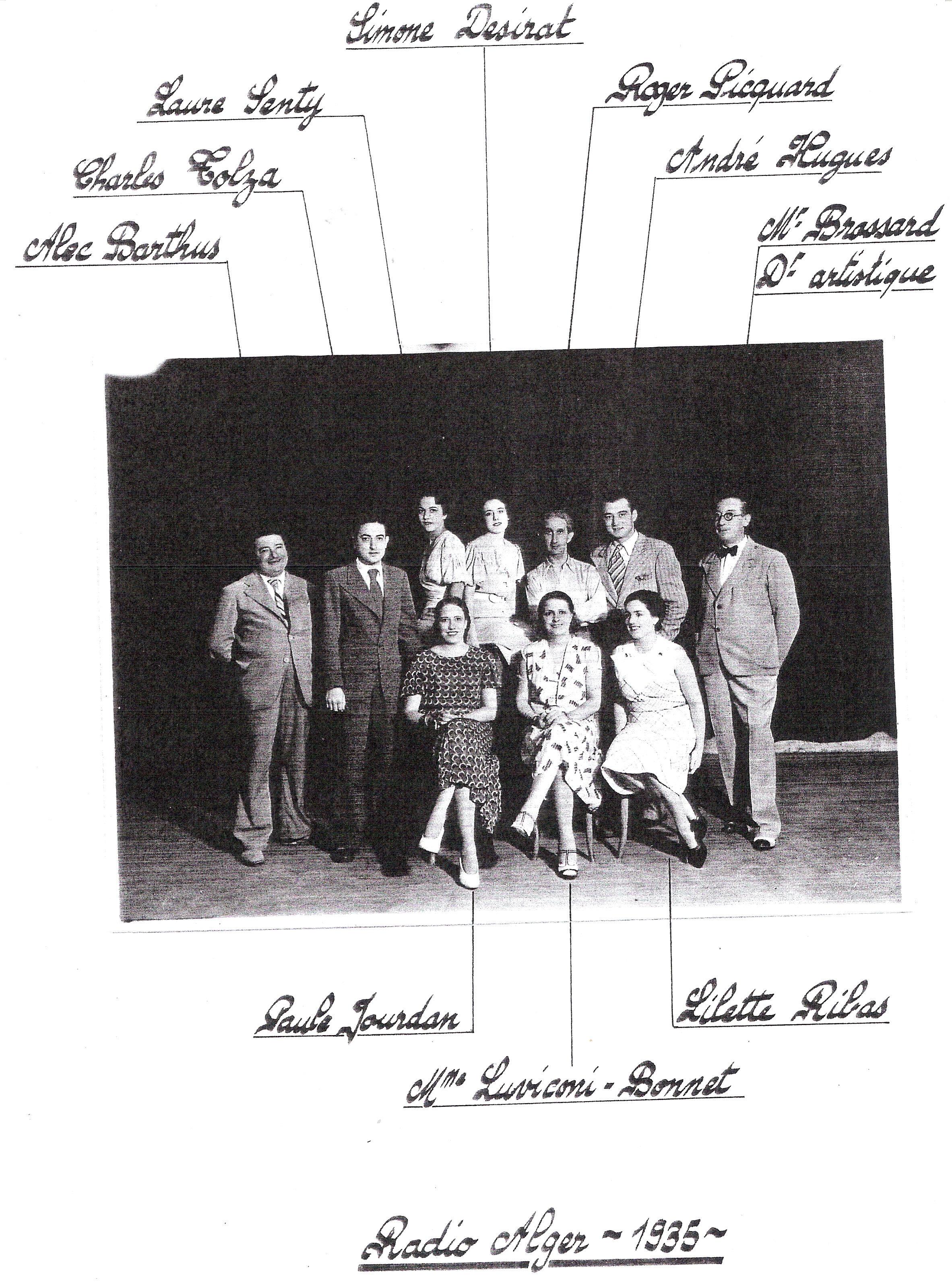 Radio Alger - La Troupe Alec Barthus vers 1935